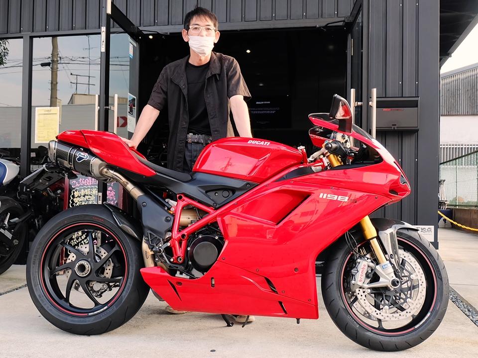 スーパーバイク1198S、納車ww