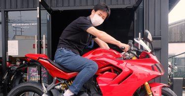 情熱レッドの新型スーパースポーツ950S、納車!!